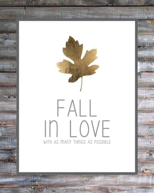 Fall in Love Free Printable by B Repurposed