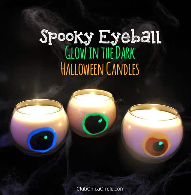 Glow in the Dark Eyeball Candles from Club Chica Circle