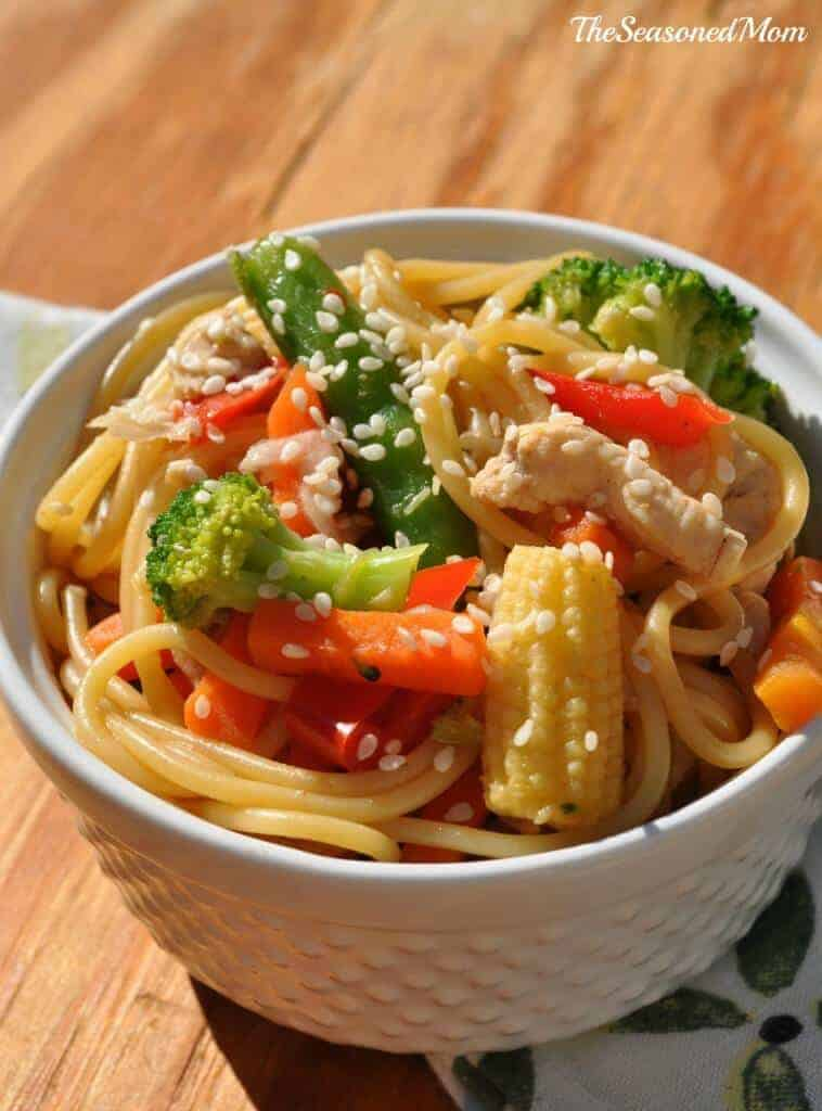Healthy Chicken Chow Mein by The Seasoned Mom