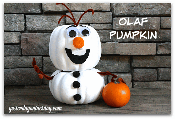 Olaf Pumpkin by Yesterday on Tuesday