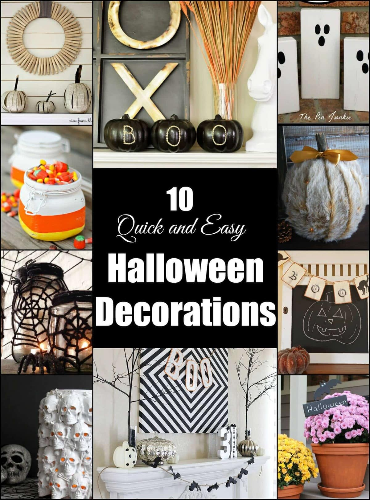 10 Quick And Easy Halloween Decorations