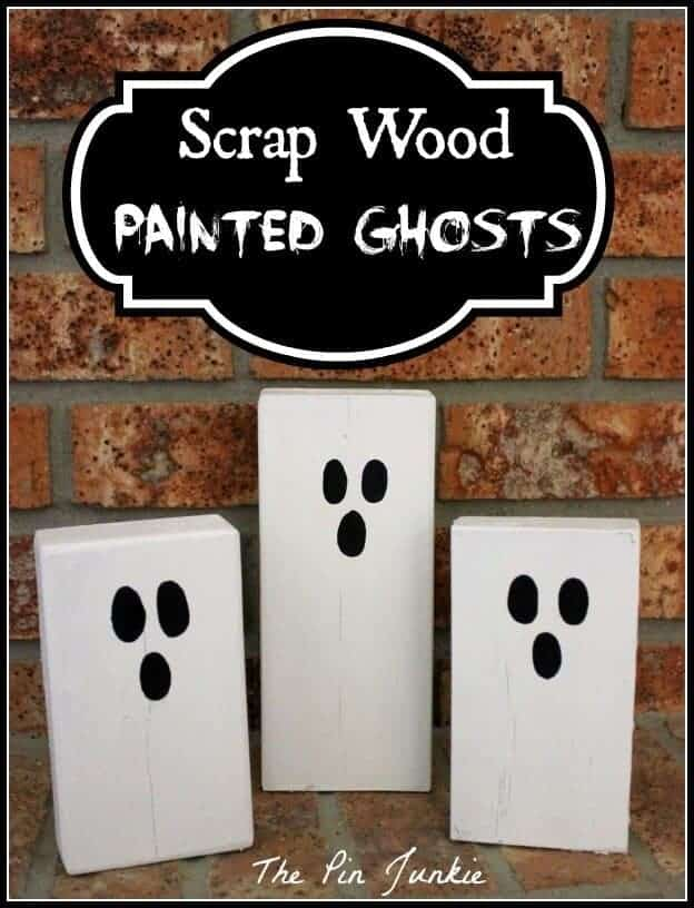 Scrap Wood Painted Ghosts from the Pin Junkie