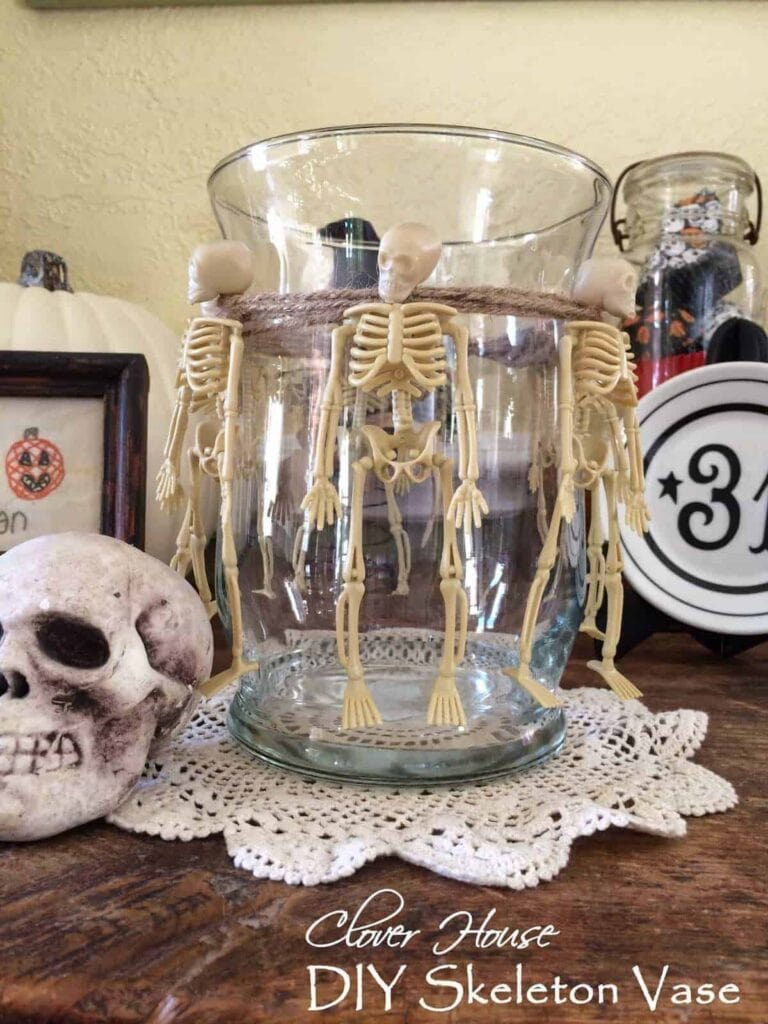 Simple Skeleton Vase from Our Clover House