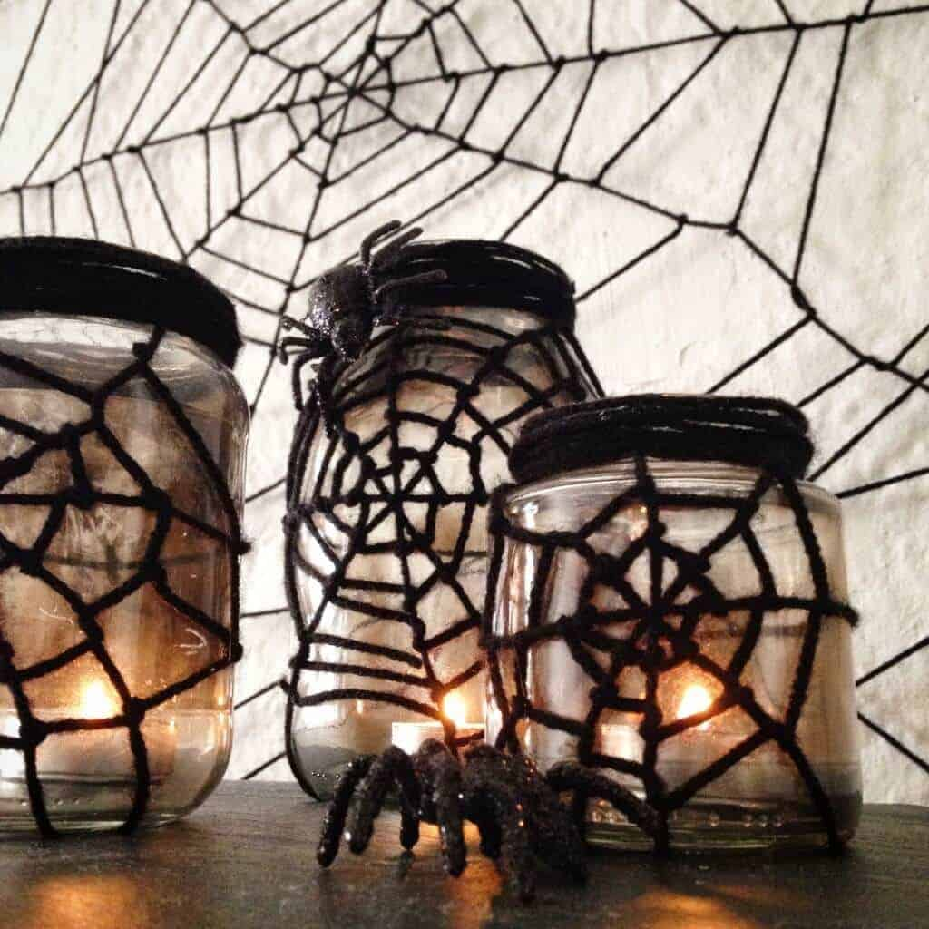 Spider Web Jars from Crafty Lumberjacks