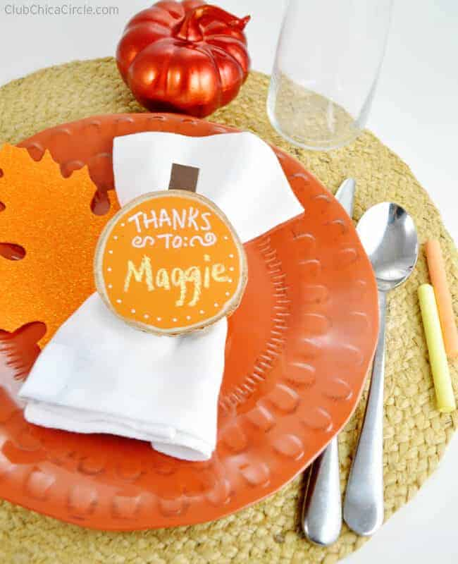 Chalkboard Pumpkin Napkin Rings by Chica Circle