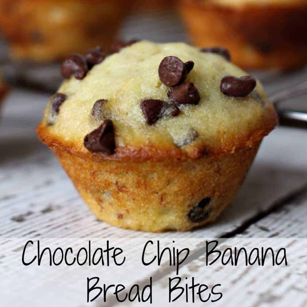 Chocolate Chip Banana Bread Bites - easy and delicious