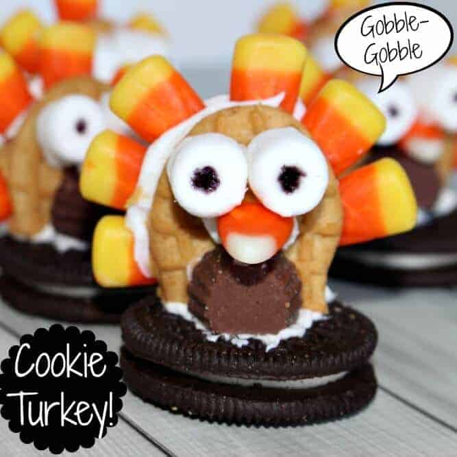 Cookie Turkey - easy Thanksgiving treat
