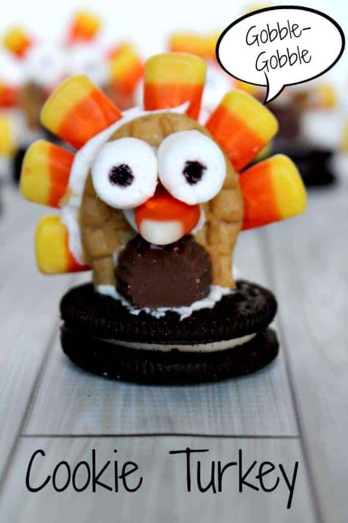 Cookie turkey - super easy Thanksgiving treat