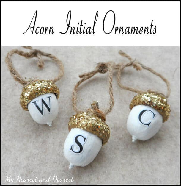 Personalized Acorn Ornament by My Nearest and Dearest