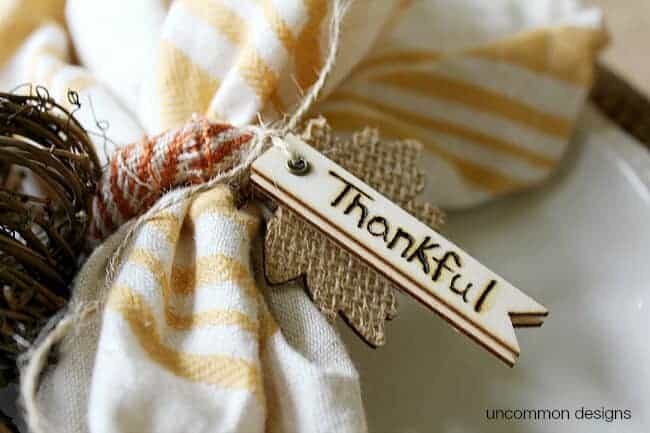Thankful Napkin Rings by Uncommon Designs
