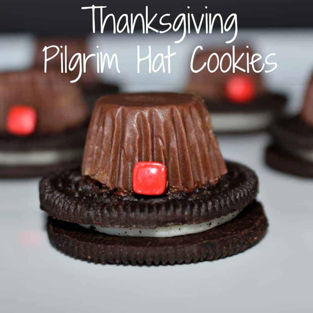 Thanksgiving Pilgrim Hat Cookies