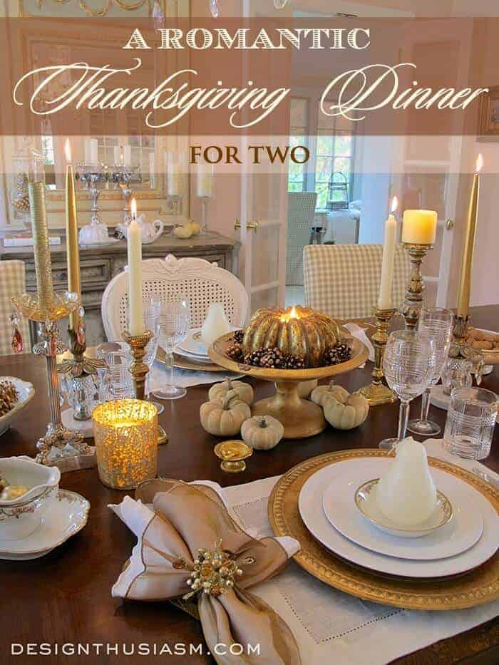 Thanksgiving Table for Two by Design Enthusiasm