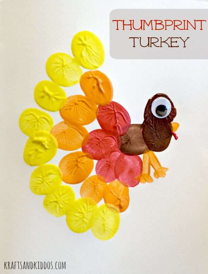 Thumbprint Turkey from Krafts and Kiddos