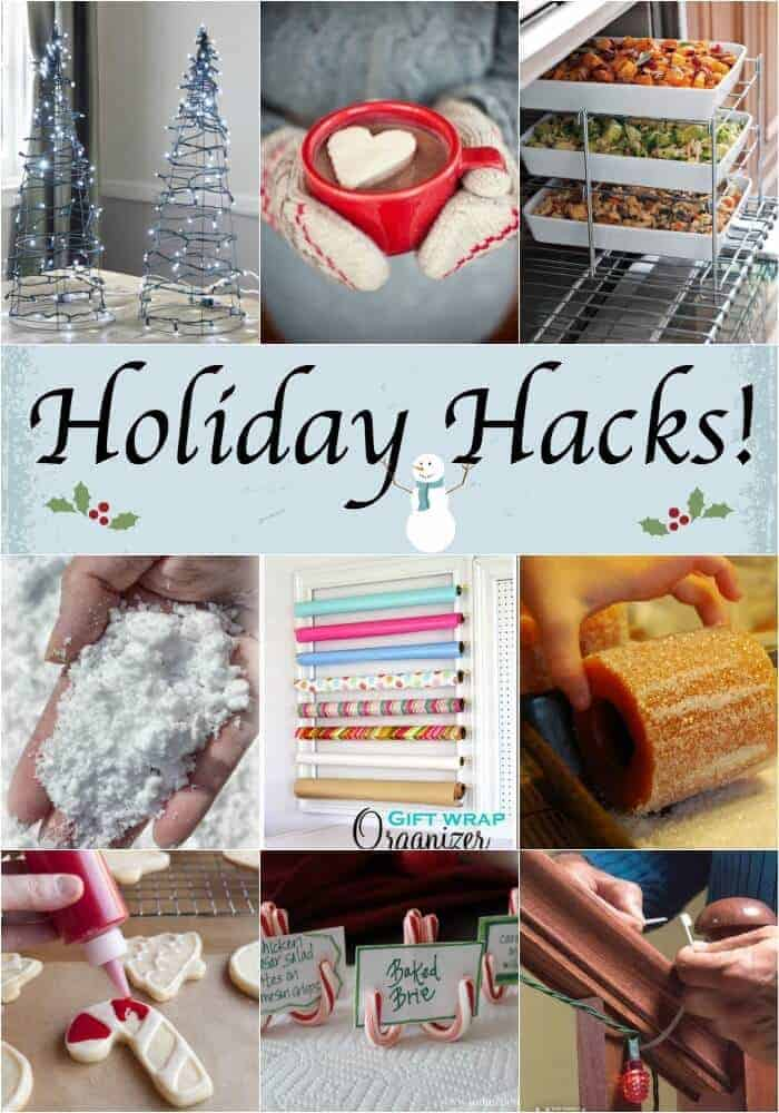 We love all types of hacks, but these Holiday Hacks may be our all time favorite! Easy DIY's and holiday decorating ideas that even the least creative person can do! These Christmas decorations and hacks are one for the record book!