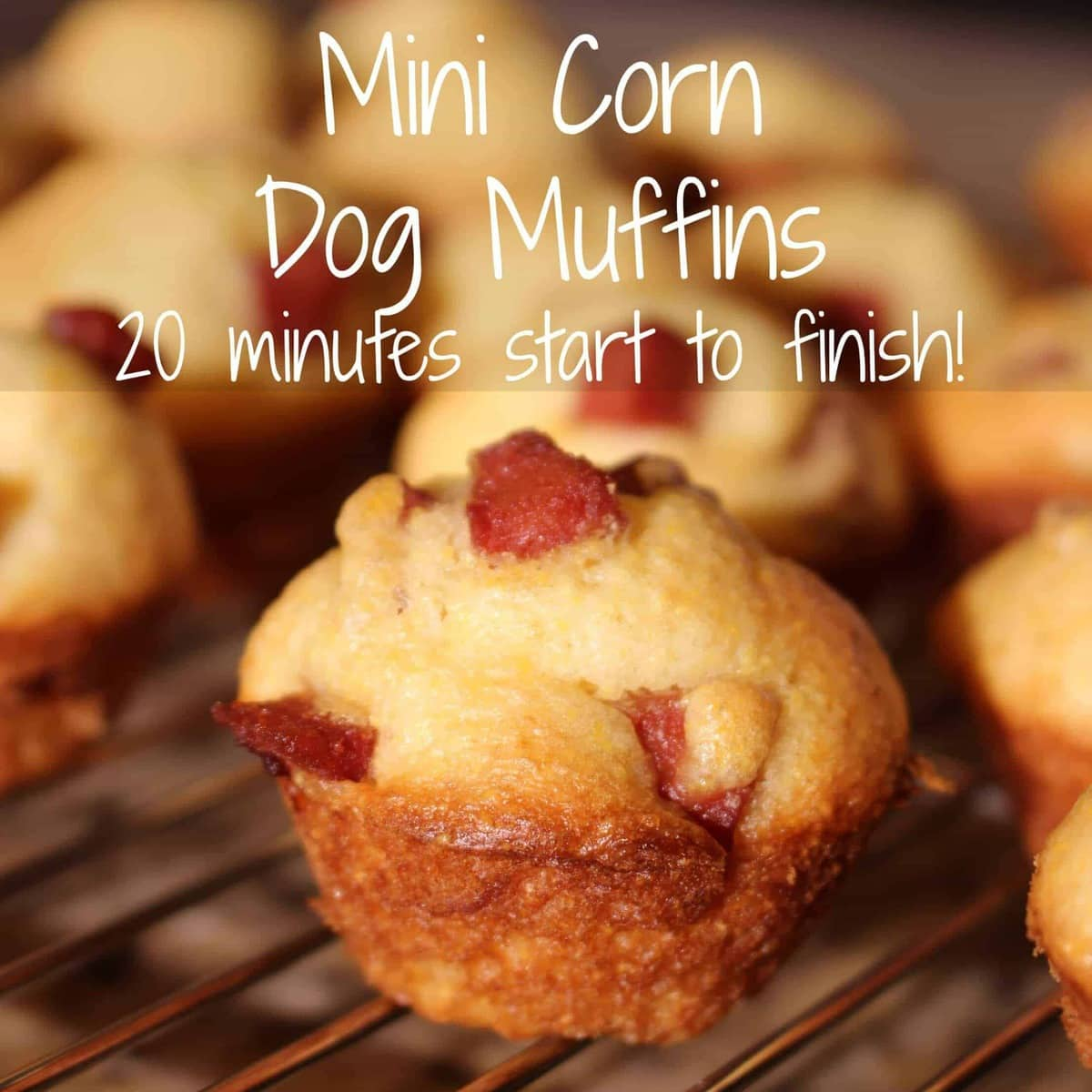 Mini corn dog muffins - 20 minute appetizer, start to finish!