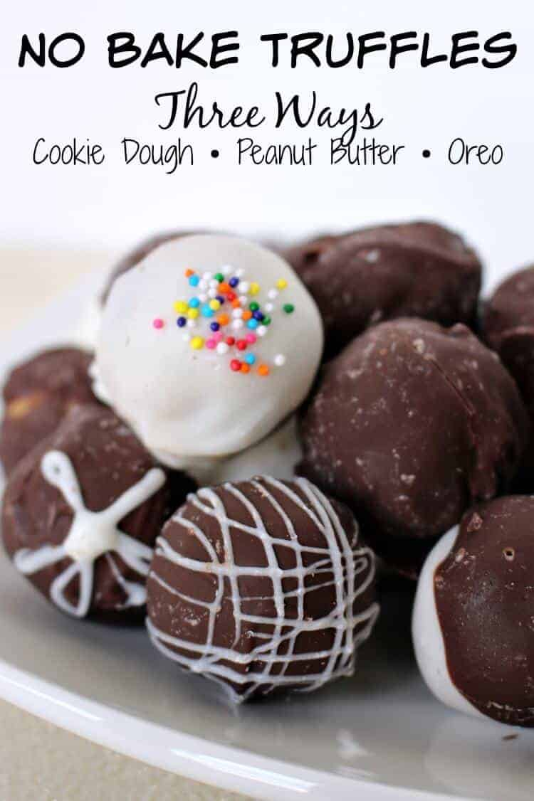 Easy no bake truffles - cookie dough • Peanut Butter • Oreo cookie