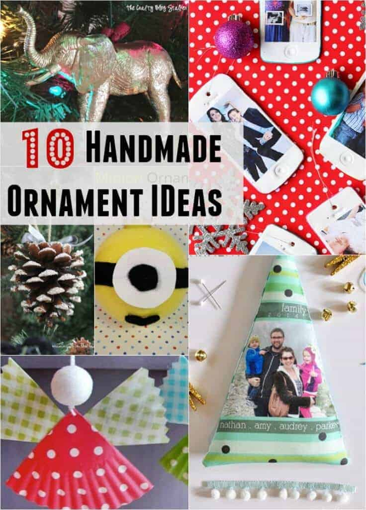 Handmade Ornament Ideas - great to make with kids