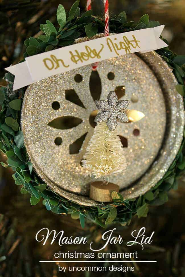 Mason Jar Lid Ornament by Uncommon Designs