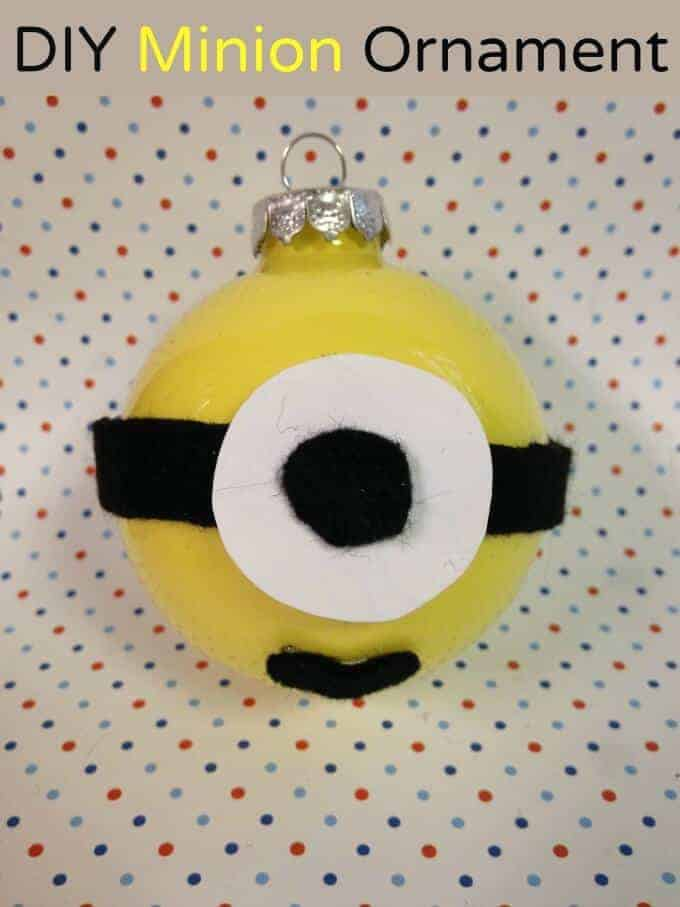 Minion Ornament by Momma D Jane