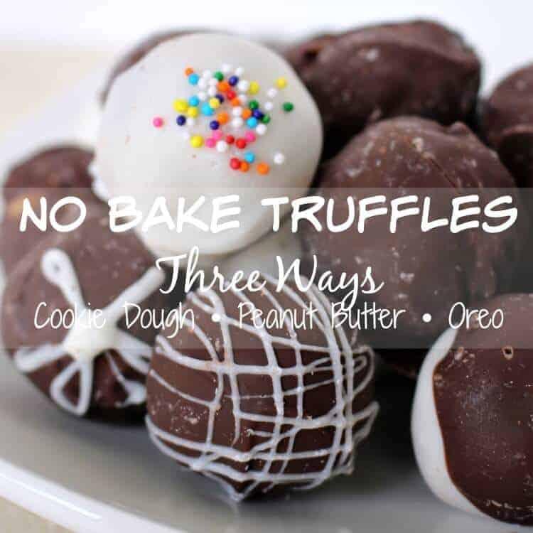 No bake truffles - SO easy and SO delicious