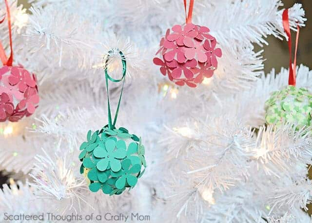 Paper Flower Ornaments by Scattered Thoughts of a Crafty Mom