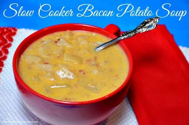 Slow Cooker Bacon Potato Soup by Princess Pinky Girl