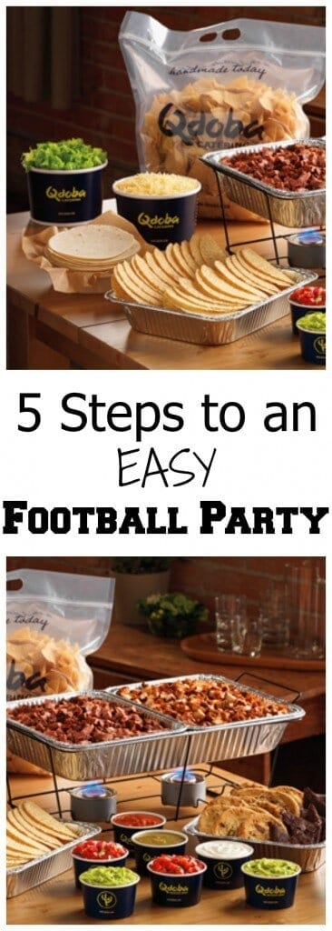 5 steps to an easy football party