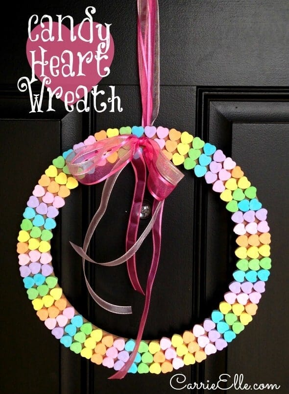 Candy Heart Wreath by Carrie Elle