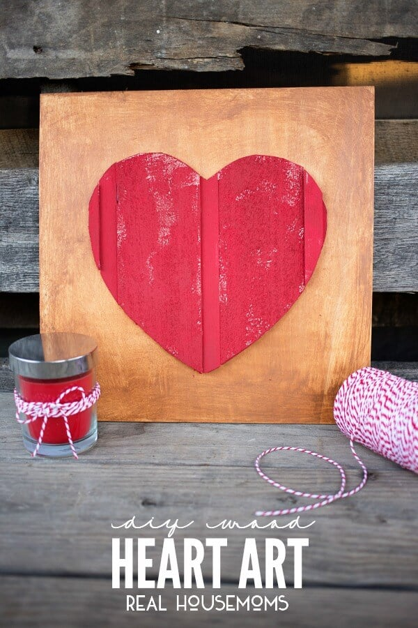 DIY Wood Heart Art by Real House Moms