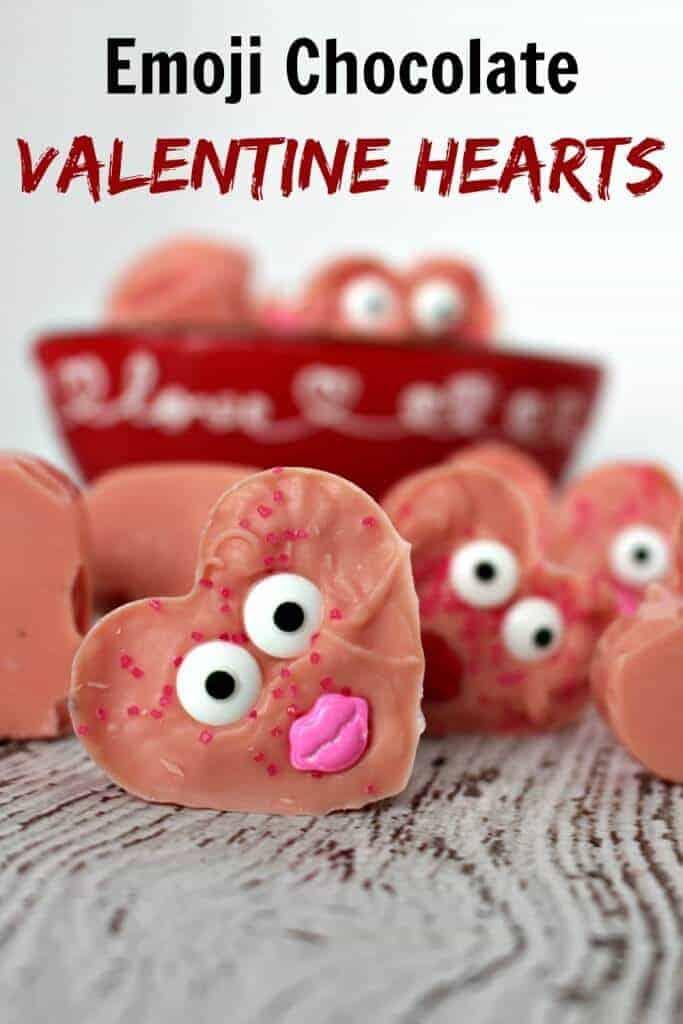 Emoji Chocolate Valentine Hearts from Princess Pinky Girl