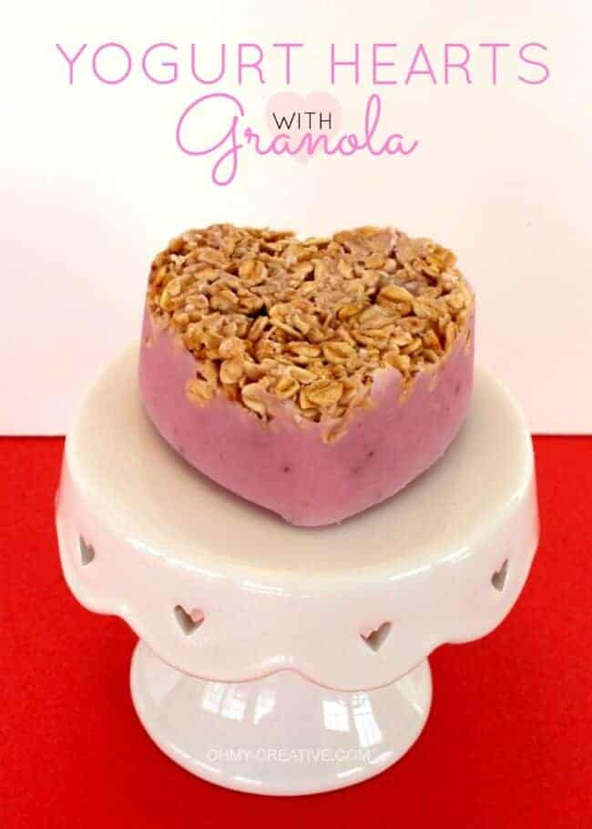 Frozen Yogurt Hearts Granola by Oh My Creative