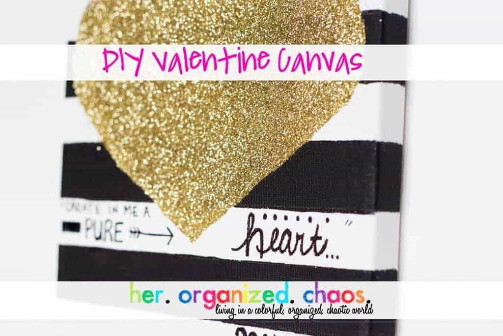 Glitter Valentine Canvas by Her Organized Chaos