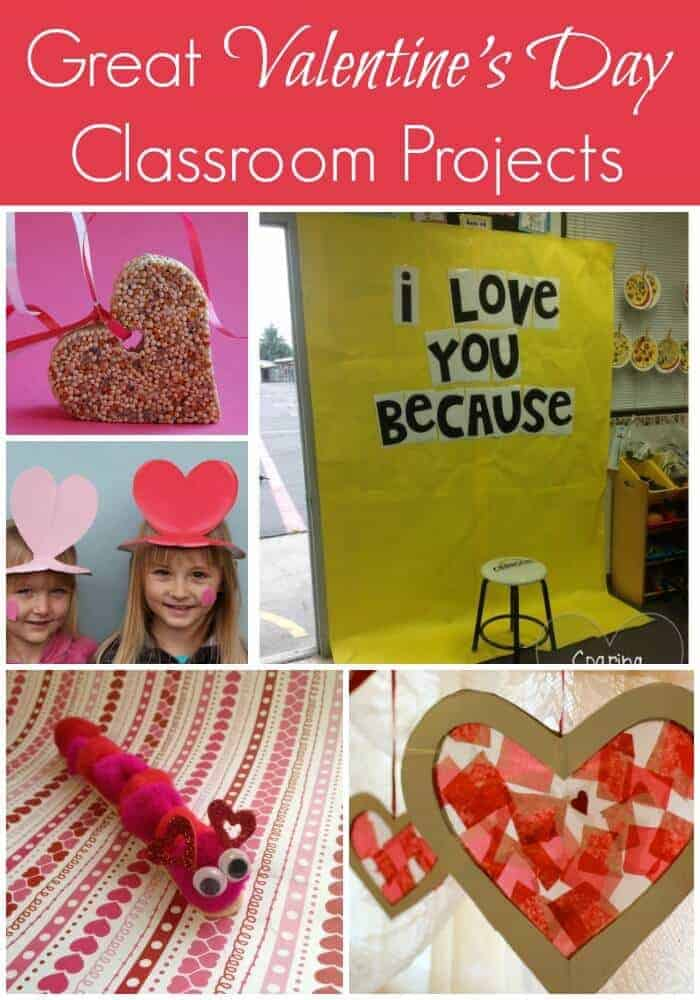 Great Valentines Day Classroom Projects and Crafts