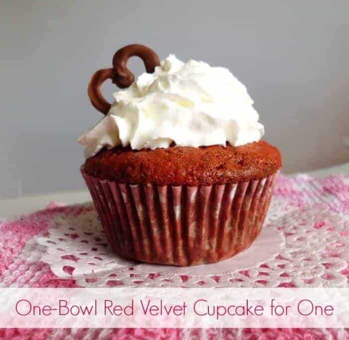 One Bowl Red Velvet Cupcakes by Pink Recipe Box