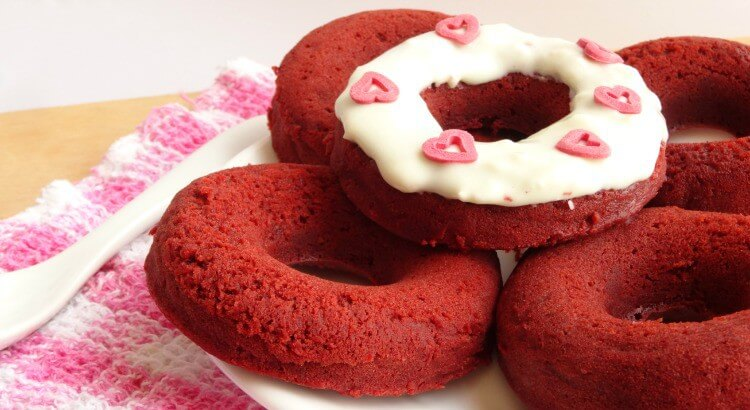 Skinny Red Velvet Cake Donuts by Pink Recipe Box