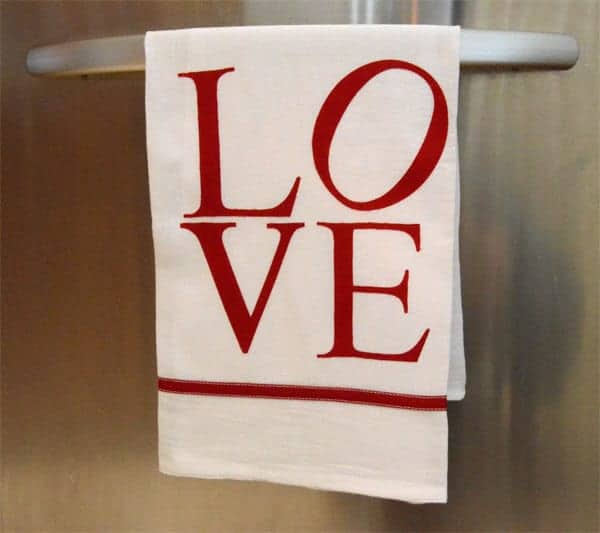Valentine Tea Towel by A Seasoned Homemaker
