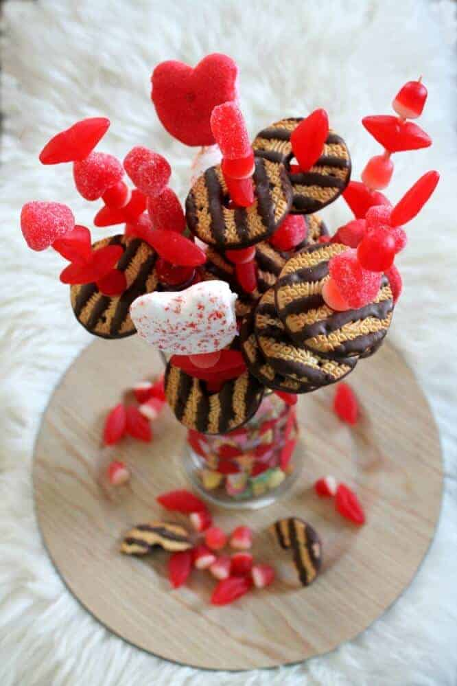 Valentines Candy Bouquet from Fry Sauce and Grits