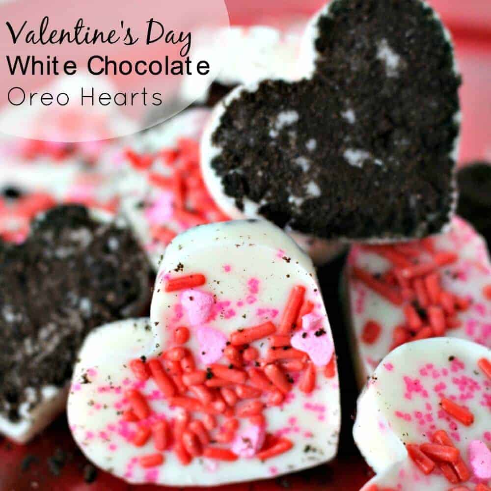 These White Chocolate Oreo Hearts are perfect for Valentine's Day - Three ingredients and they take no time at all!