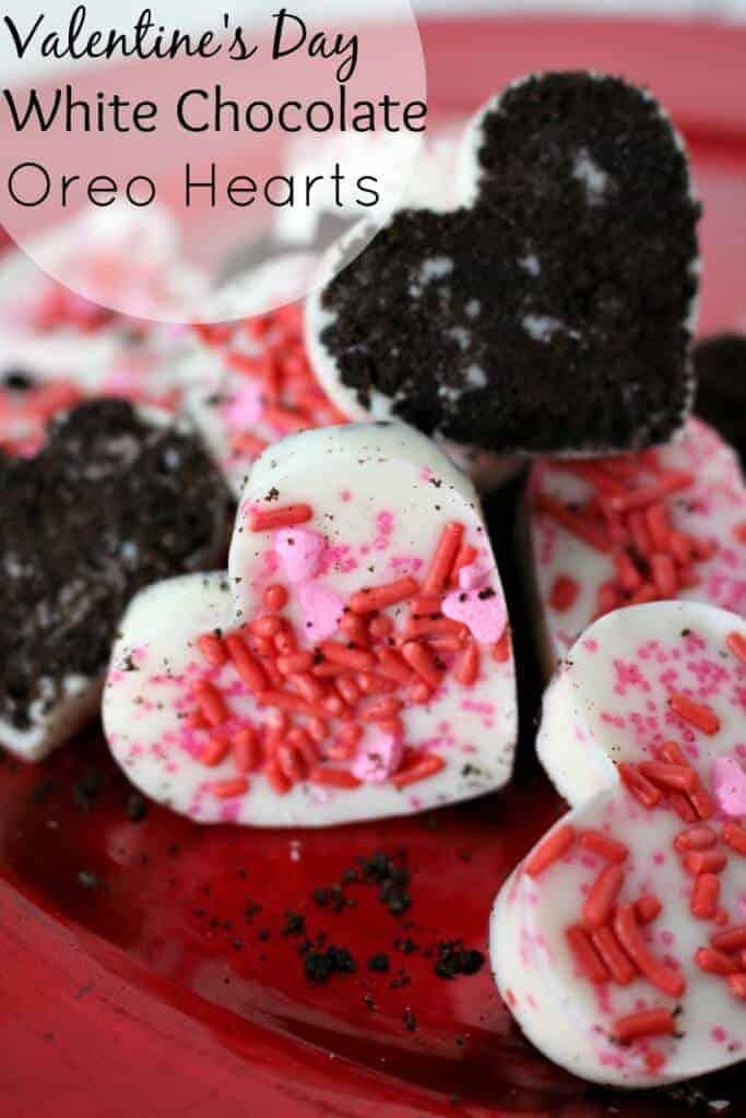 White Chocolate Oreo Hearts