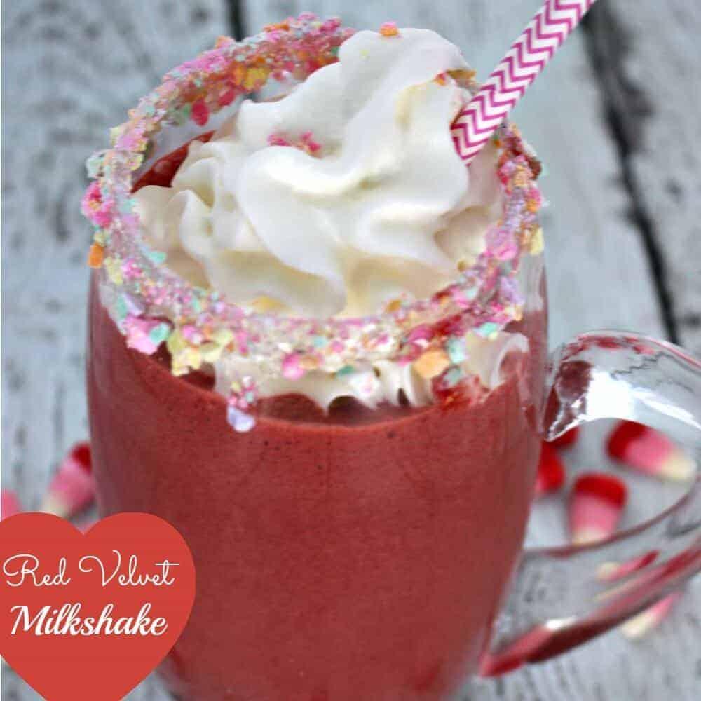 red velvet milkshake square