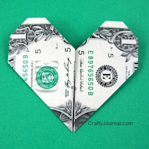 Dollar Bill Heart by Crafty Journal
