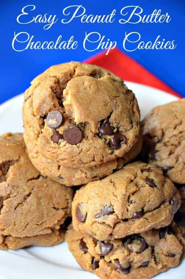 Easy-Peanut-Butter-Chocolate-Chip-Cookies-YUM-645x973