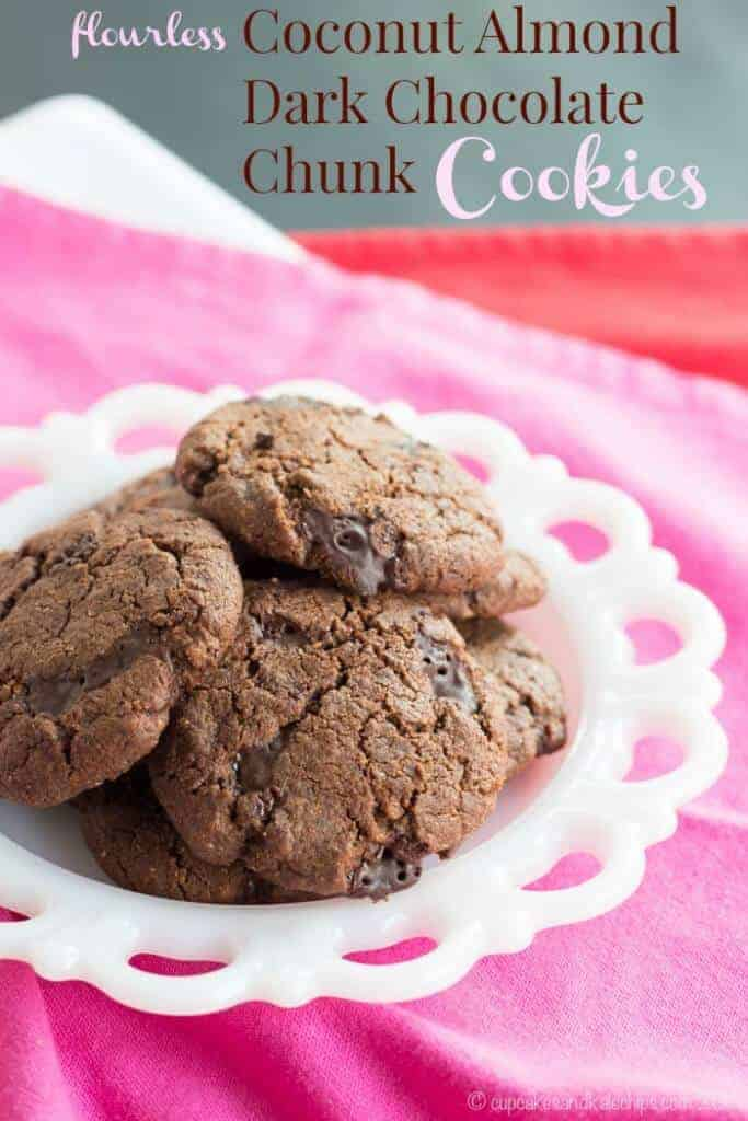 Flourless Dark Chocolate Chunk Cookies by Cupcakes and Kale Chips