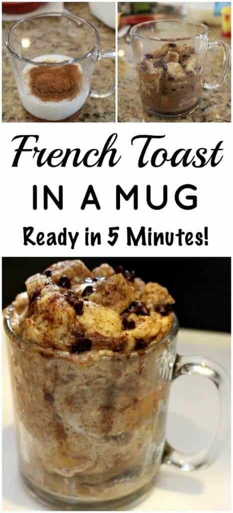 French Toast Mug - 2 steps 1 dish - ready in 5 minutes