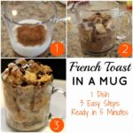 Steps to make French Toast in a mug