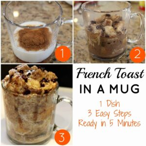 French Toast in a Mug {Quick, Easy & Delicious!}