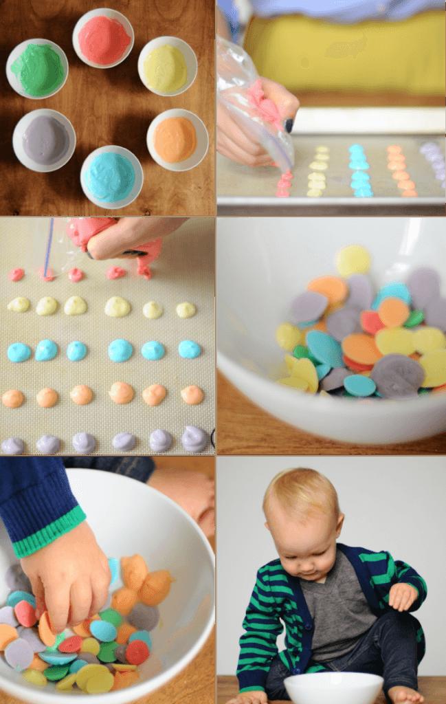 Frozen yogurt dots