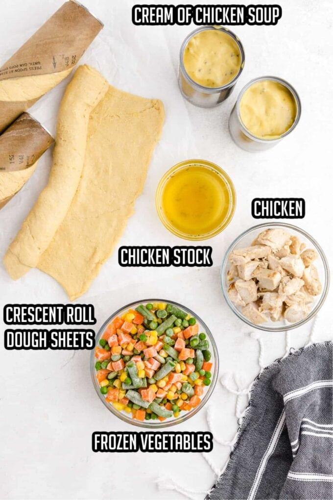 Mini Chicken Pot Pie Ingredients
