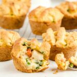 Mini Chicken Pot Pie cut open