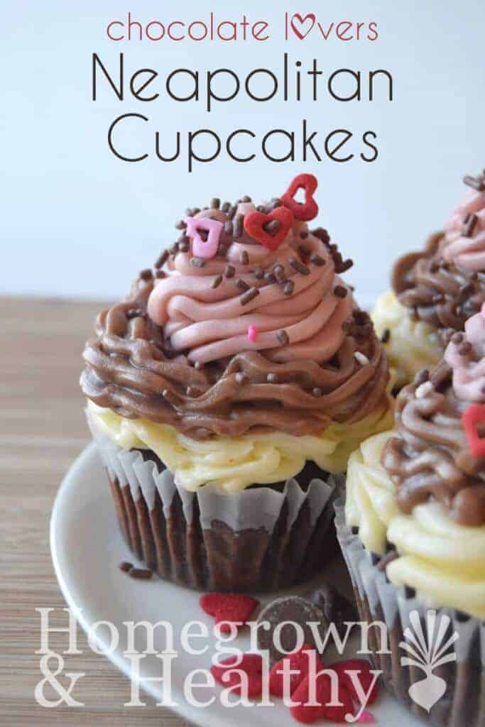 Neapolitan Cupcakes by Homegrown and Healthy